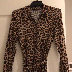 Leopard shirt maxi (Zara) size Med (equal to sz 6)